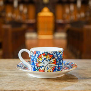 Rose Window Cup and Saucer