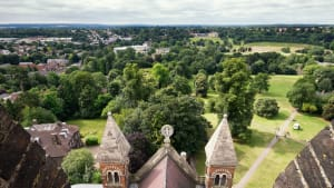 View from St Albans Cathedrals Tower