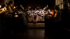 The Cathedral Choirs singing during Lessons and Carols