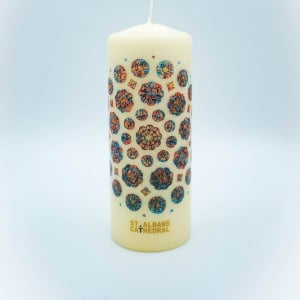Stained Glass Window Pillar Candle